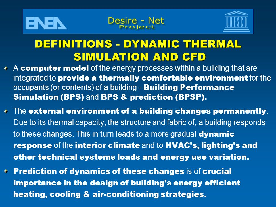 DEFINITIONS - DYNAMIC THERMAL