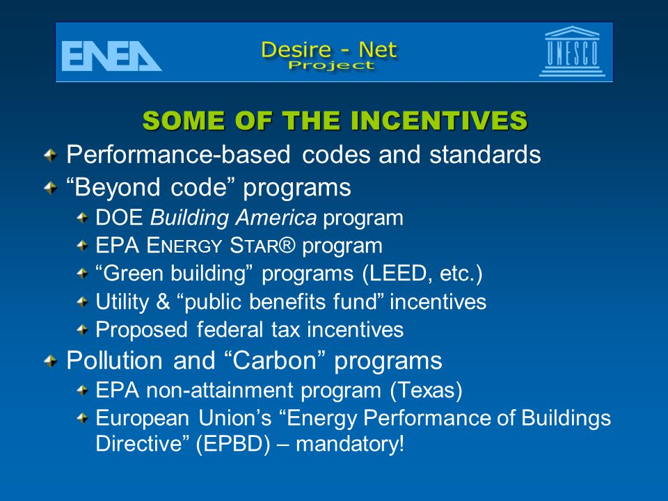 Performance-based codes and standards Beyond code programs