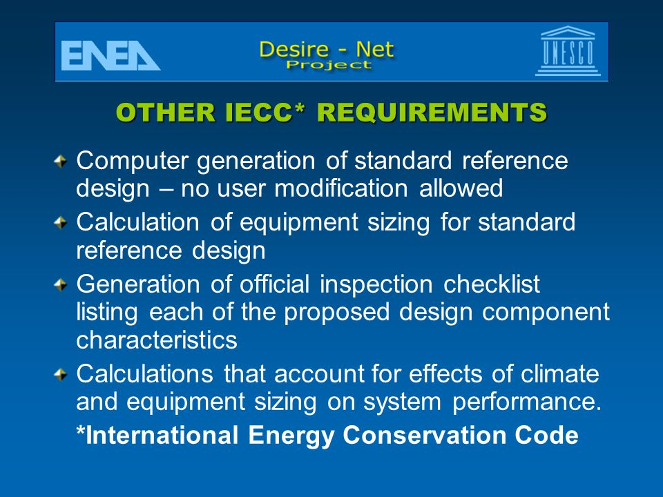 OTHER IECC* REQUIREMENTS