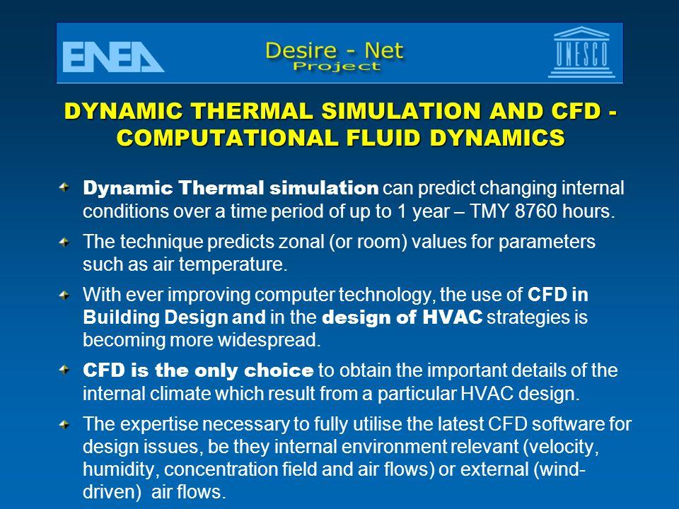DYNAMIC THERMAL SIMULATION AND CFD -COMPUTATIONAL FLUID DYNAMICS