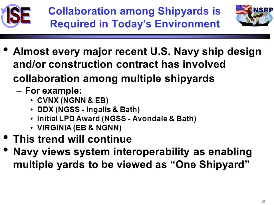 Collaboration among Shipyards is Required in Today's Environment