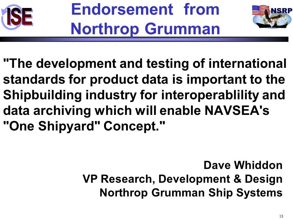 Endorsement from Northrop Grumman