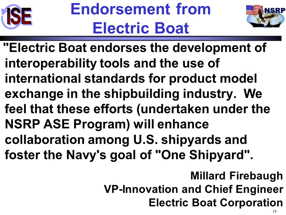 Endorsement from Electric Boat
