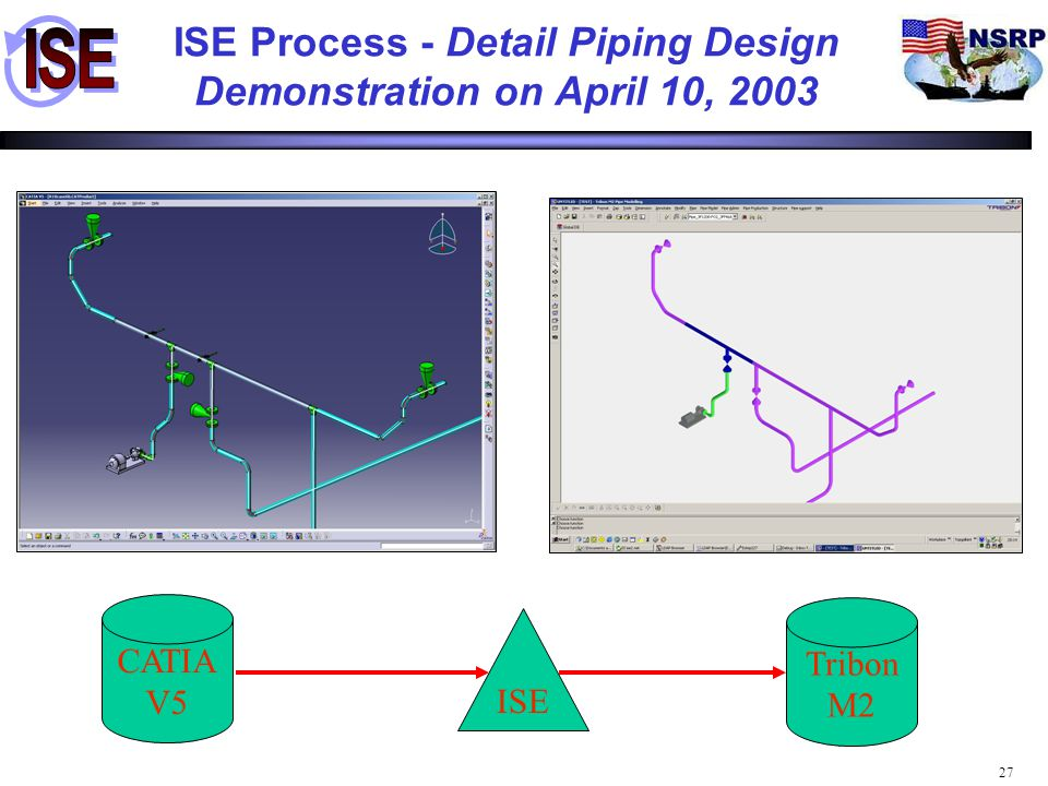 ISE Process - Detail Piping Design Demonstration on April 10, 2003