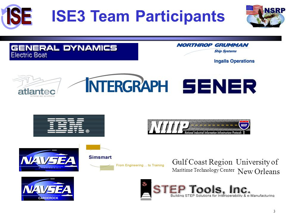 ISE3 Team Participants Gulf Coast Region University of