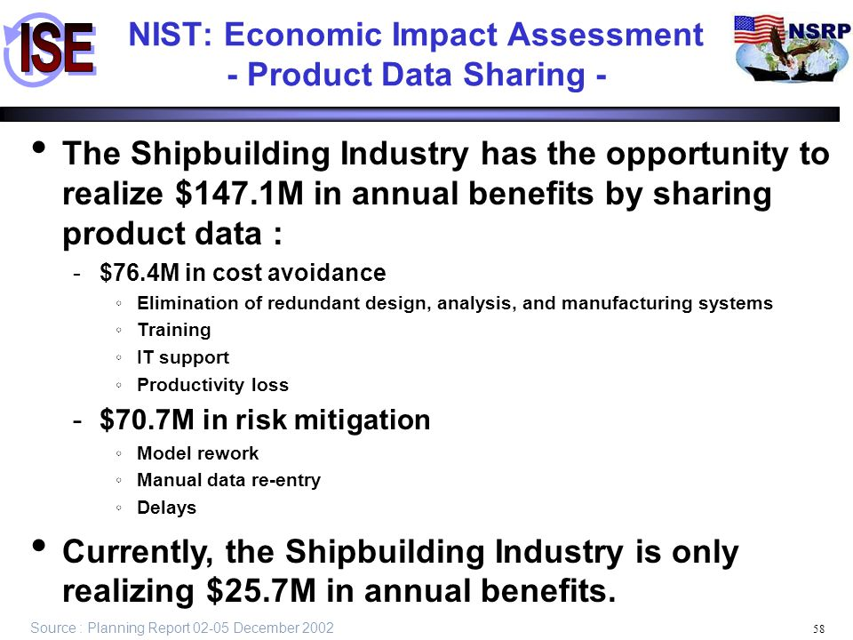 NIST: Economic Impact Assessment - Product Data Sharing -