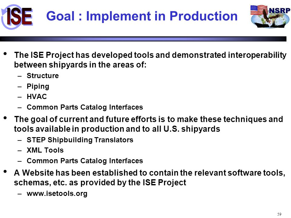 Goal : Implement in Production