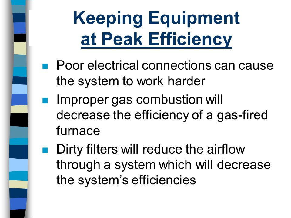 Keeping Equipment at Peak Efficiency