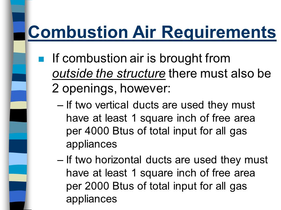 Combustion Air Requirements