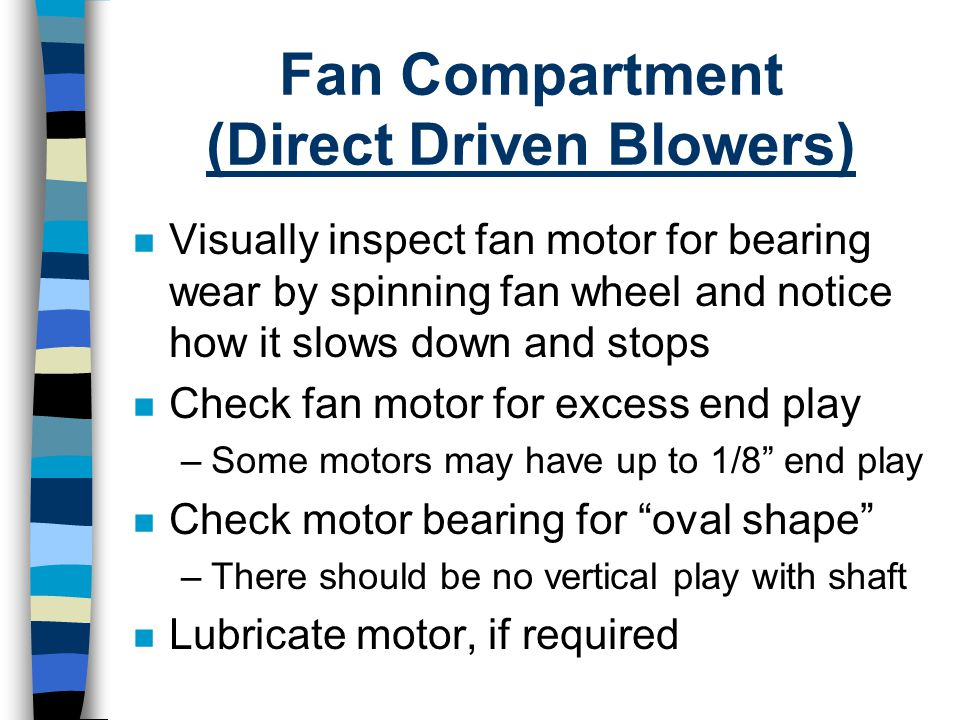 Fan Compartment (Direct Driven Blowers)