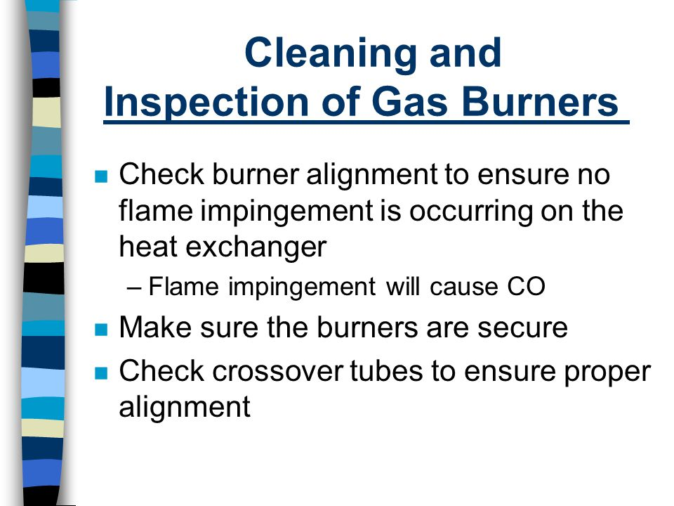 Cleaning and Inspection of Gas Burners
