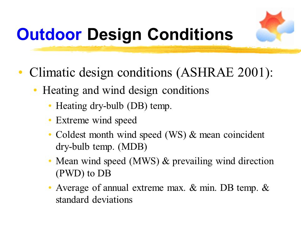 Outdoor Design Conditions