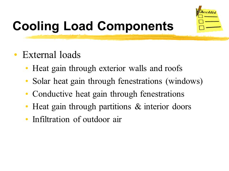 Cooling Load Components