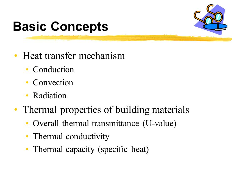 Basic Concepts Heat transfer mechanism