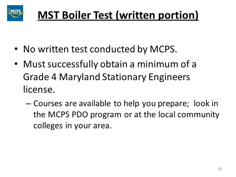 MST Boiler Test (written portion)