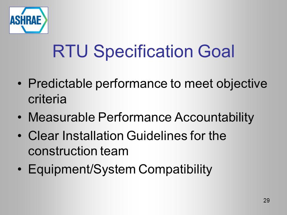 RTU Specification Goal