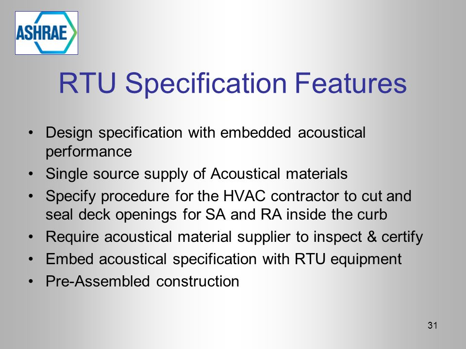 RTU Specification Features