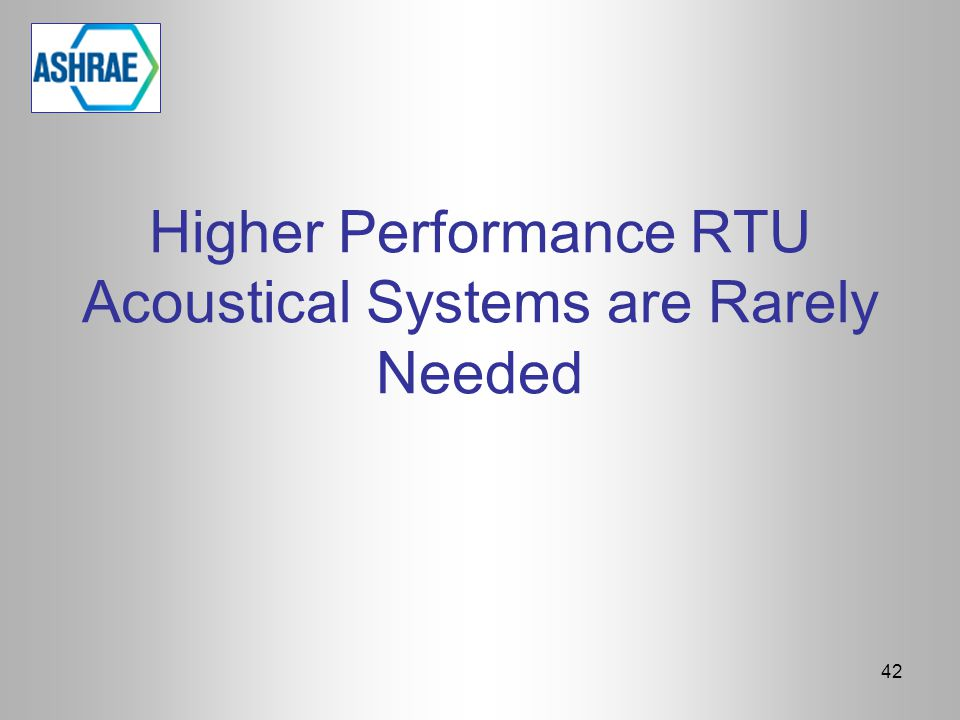 Higher Performance RTU Acoustical Systems are Rarely Needed