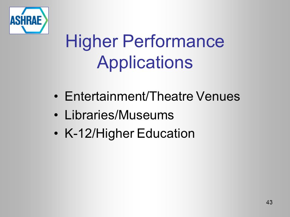 Higher Performance Applications