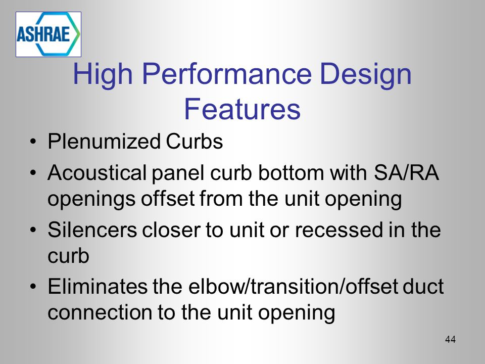 High Performance Design Features
