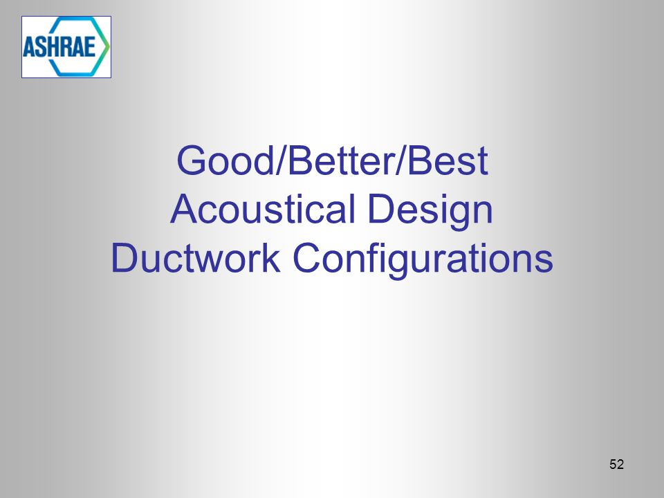 Good/Better/Best Acoustical Design Ductwork Configurations