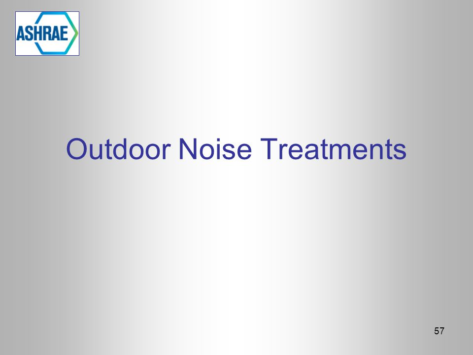 Outdoor Noise Treatments
