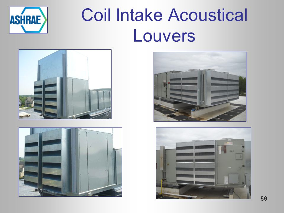Coil Intake Acoustical Louvers