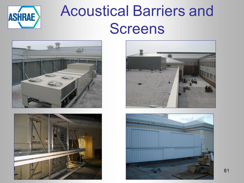 Acoustical Barriers and Screens