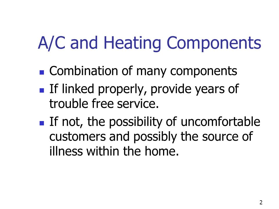 A/C and Heating Components
