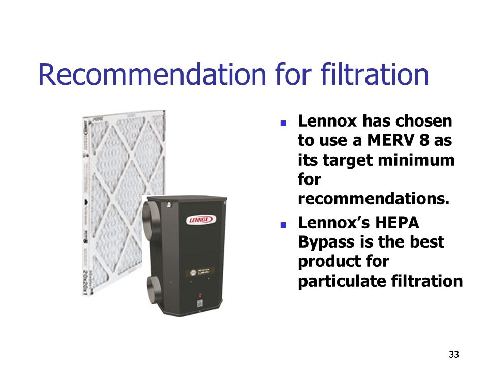 Recommendation for filtration