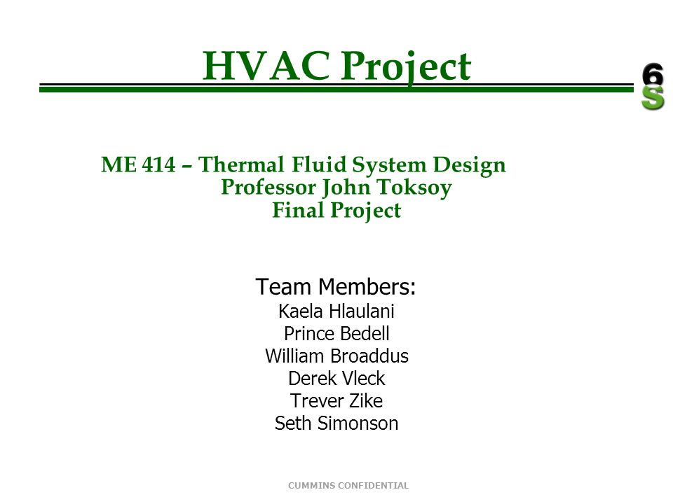 HVAC Project ME 414 – Thermal Fluid System Design