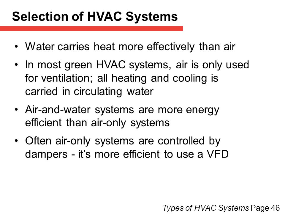 3 heating cooling hvac page ppt download for Type of heating systems