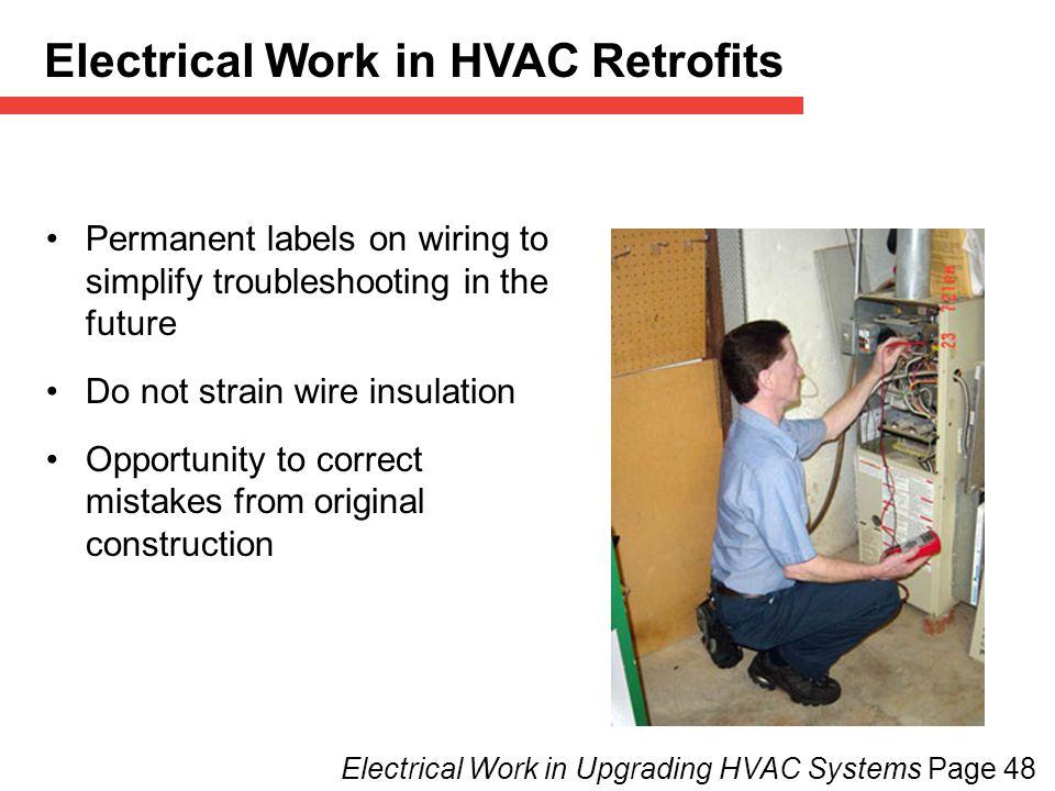 Electrical Work in HVAC Retrofits