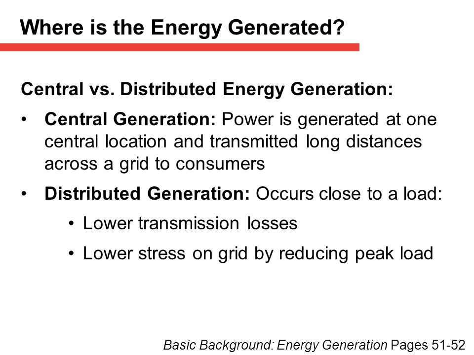 Where is the Energy Generated