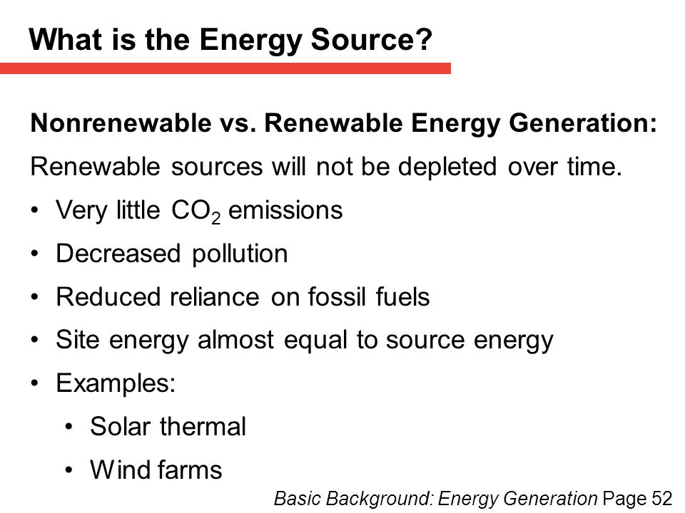 What is the Energy Source