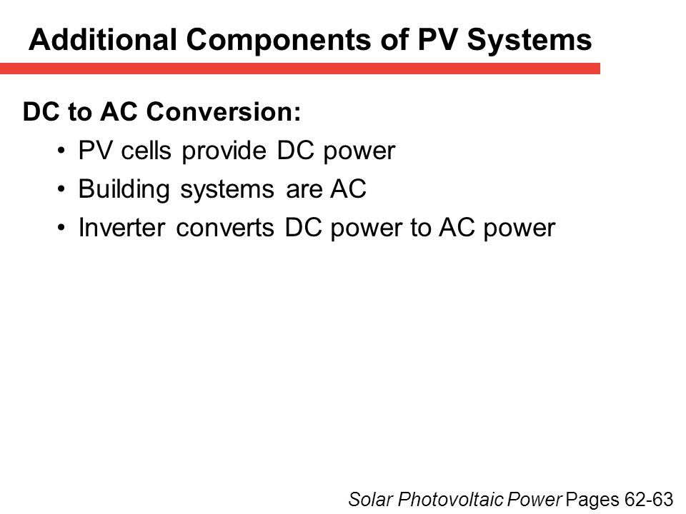 Additional Components of PV Systems