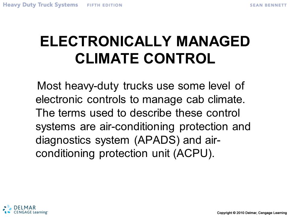 ELECTRONICALLY MANAGED CLIMATE CONTROL