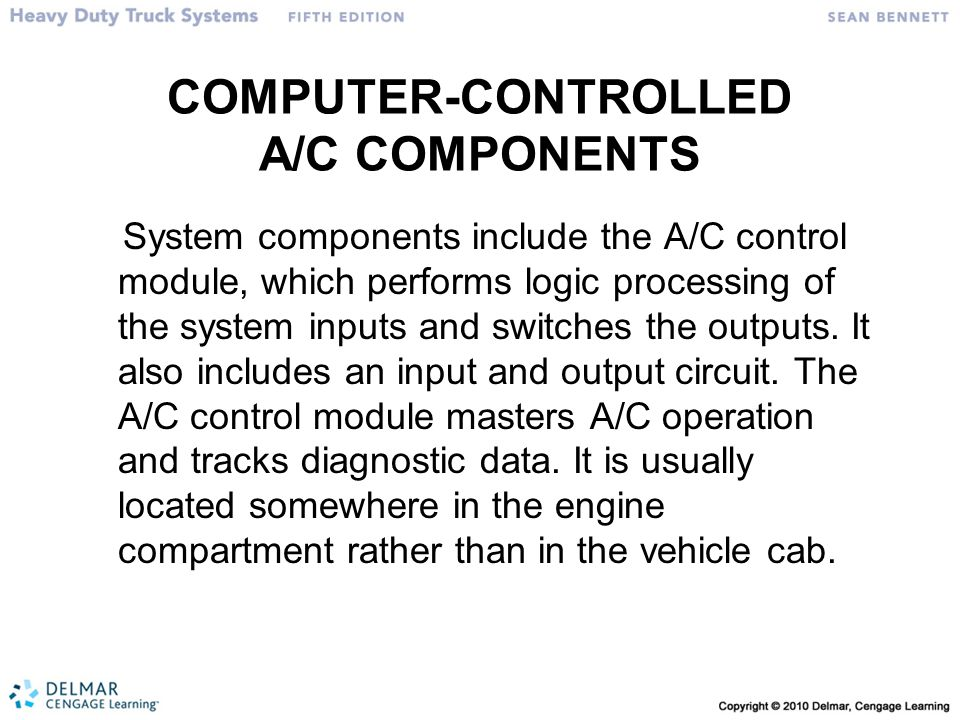 COMPUTER-CONTROLLED A/C COMPONENTS