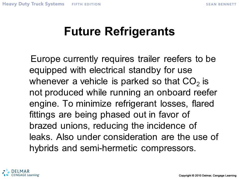 Future Refrigerants