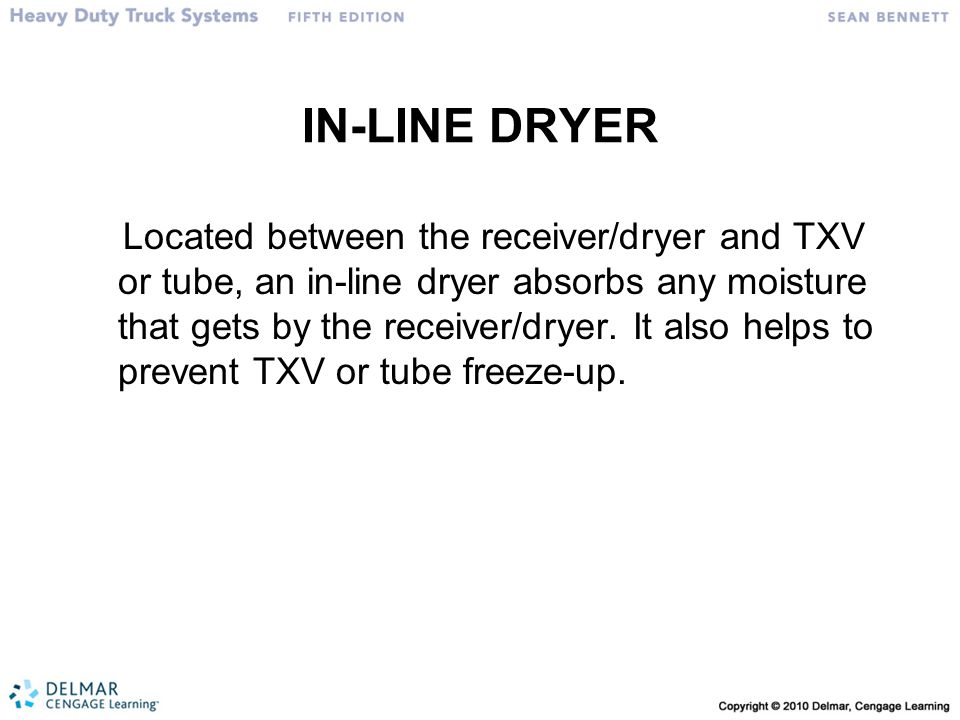 IN-LINE DRYER
