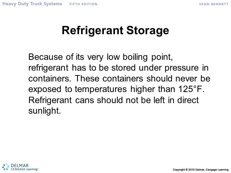 Refrigerant Storage