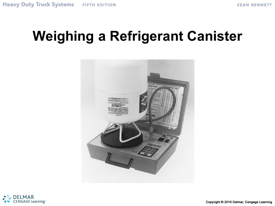 Weighing a Refrigerant Canister