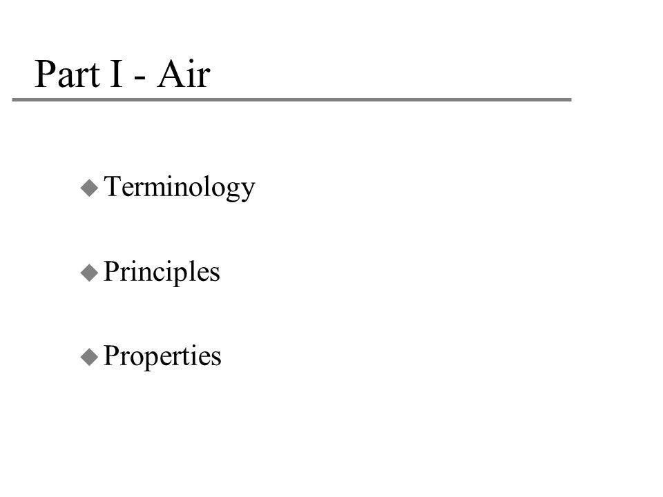 Part I - Air Terminology Principles Properties 3