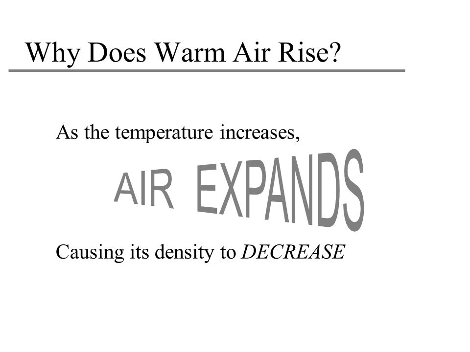 Why Does Warm Air Rise As the temperature increases,