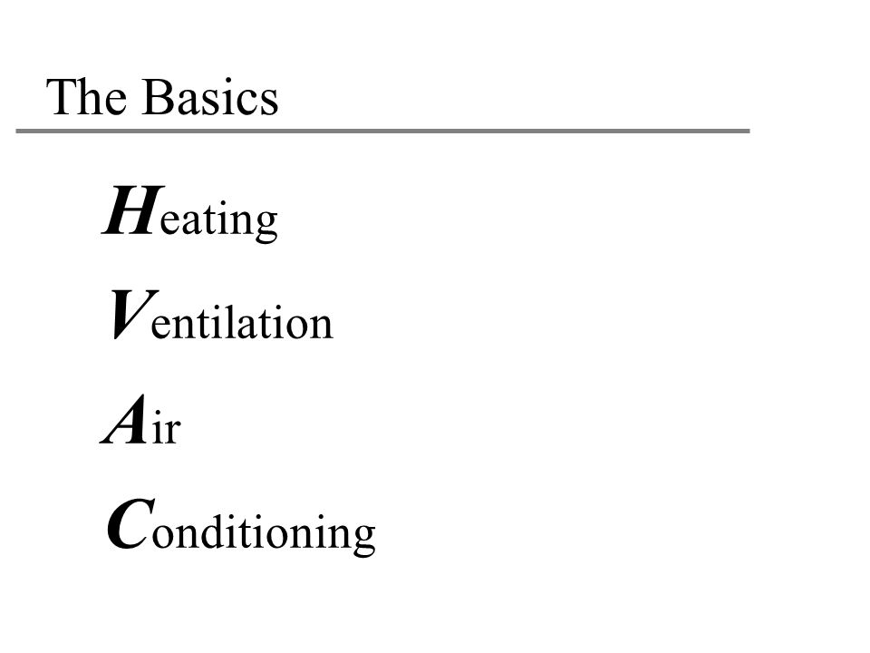 The Basics Heating Ventilation Air Conditioning 23