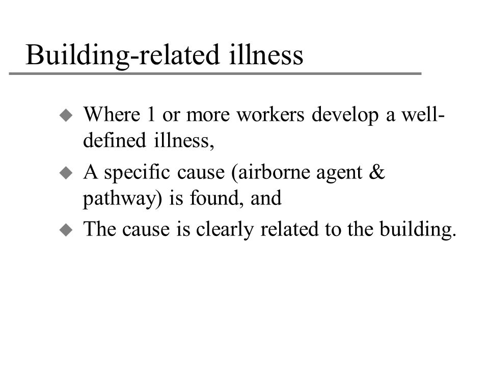 Building-related illness