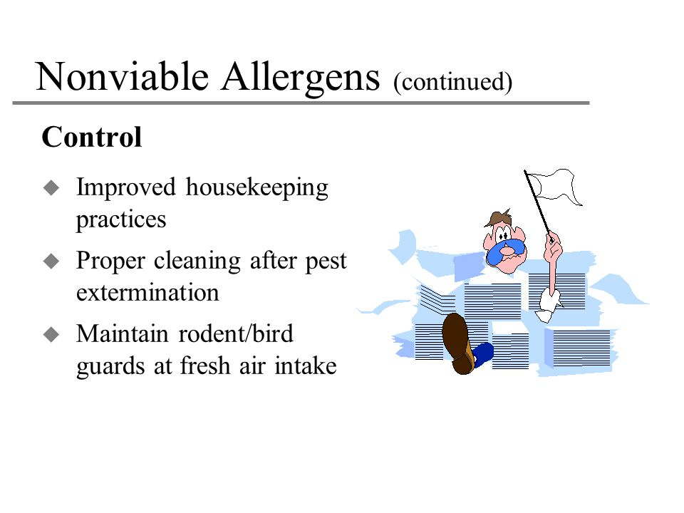 Nonviable Allergens (continued)