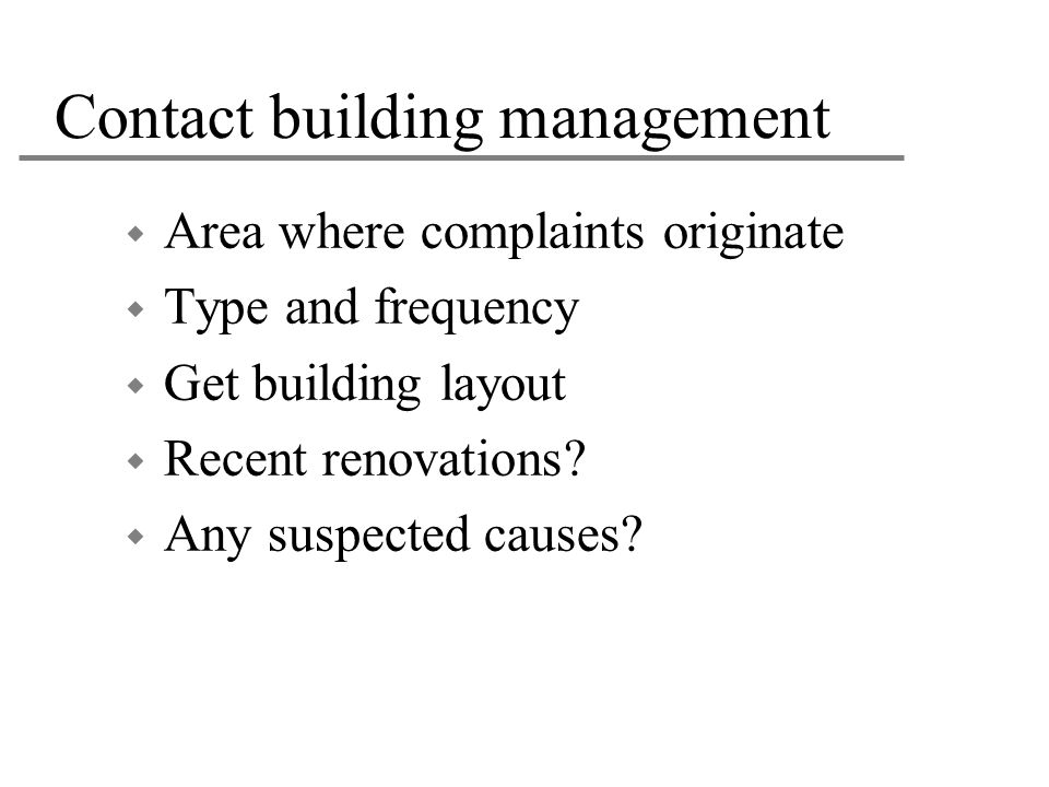 Contact building management