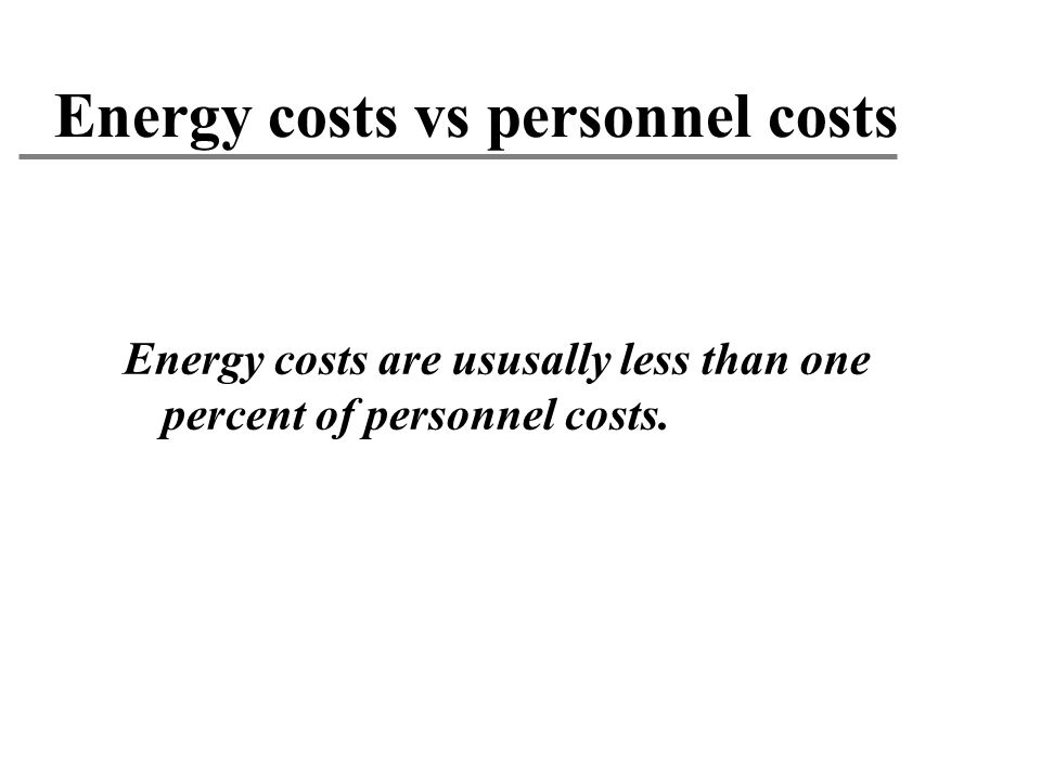 Energy costs vs personnel costs