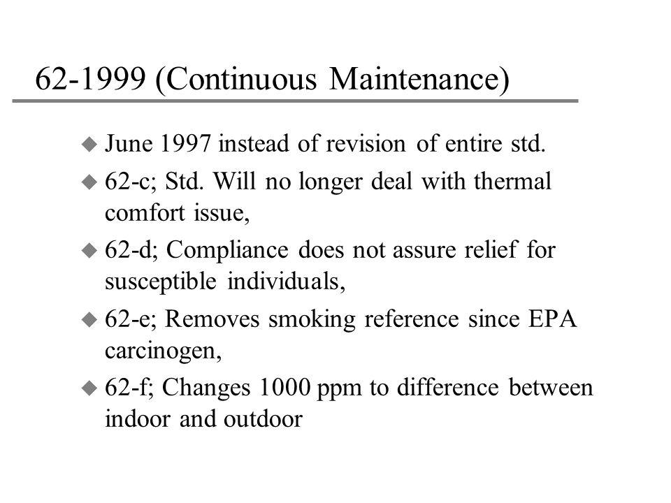 62-1999 (Continuous Maintenance)